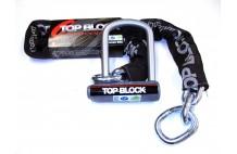 Antivol avec chaine TOP BLOCK SILVER 120L